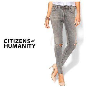 COH Grey Distressed Rocket High Rise Skinny Jeans